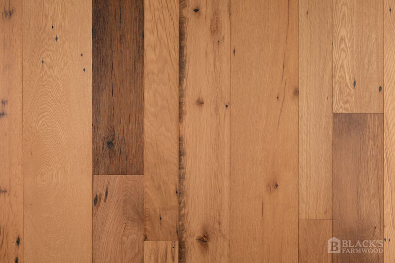 antique appearance white oak reclaimed wood flooring close up