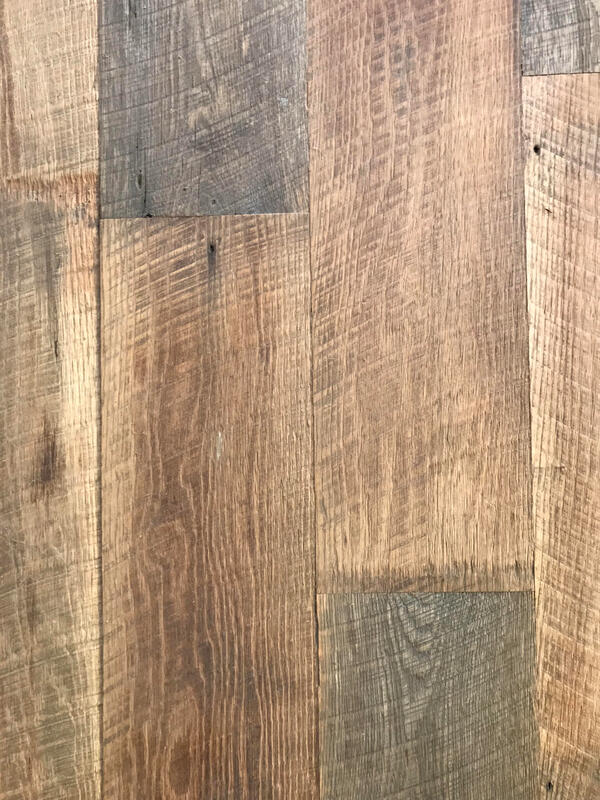 rough face tobacco barn oak reclaimed wood flooring close up
