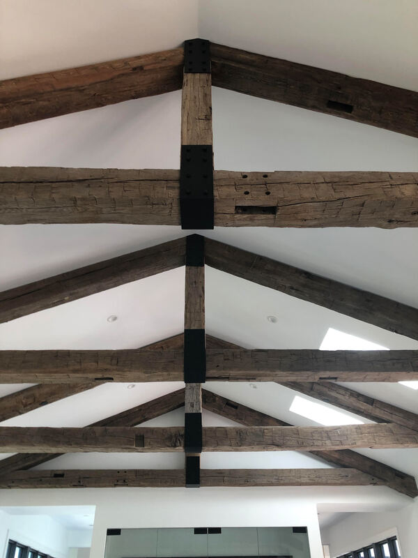Reclaimed Antique Hand Hewn Barn Beams