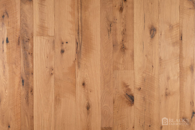 mountain oak wood flooring close up