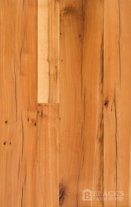 antique tobacco barn beech reclaimed wood flooring close up