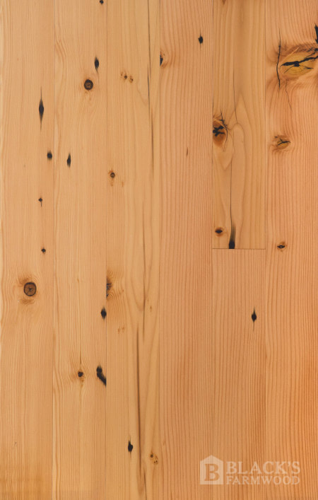 wide plank farmhouse douglas fir reclaimed wood flooring close up