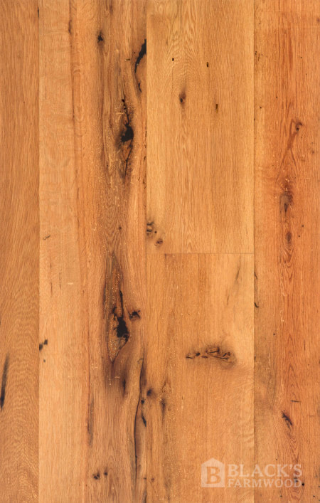 antique resawn oak reclaimed wood flooring close up