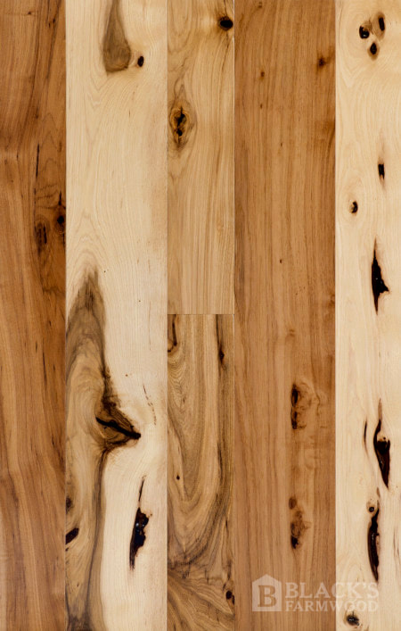 hickory wood flooring close up