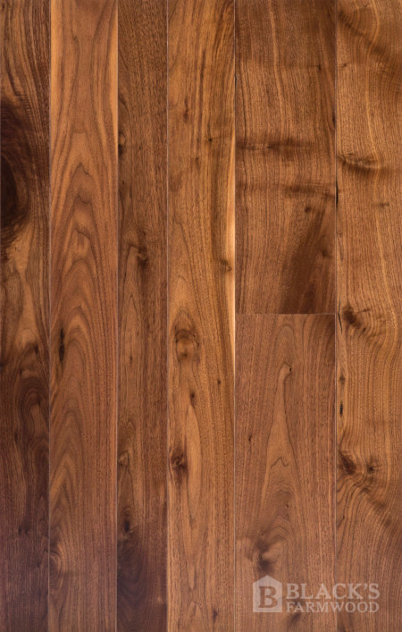 black walnut wood flooring close up
